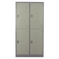 METALPRO MET-6104N STEEL LOCKER 4 DOORS GREY