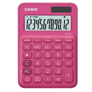 CASIO MS-20UC-RD DESKTOP CALCULATOR 12 DIGITS RED