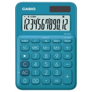 CASIO MS-20UC-BU DESKTOP CALCULATOR 12 DIGITS BLUE