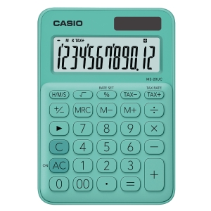 CASIO MS-20UC DESKTOP CALCULATOR 12 DIGITS GREEN