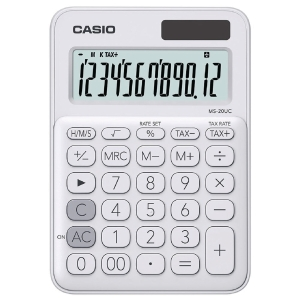 CASIO MS-20UC-WH DESKTOP CALCULATOR 12 DIGITS WHITE
