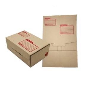 DEI-CUT POST BOX KI KARFT SIZE 14CM X 20CM X 6CM BROWN - PACK OF 10