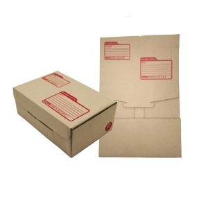 DEI-CUT POST BOX KI KARFT SIZE 17CM X 25CM X 9CM BROWN - PACK OF 10