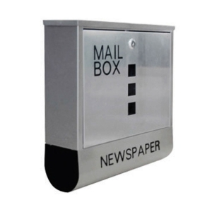 MB-360 MAIL BOX STAINLESS STEEL WITH LOCK SIZE 36CMX10CMX36CM WEIGHT 1.90KG