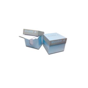 DOUBLE A MINIBOX WHITE NOTES 9CM X 9CM -  700 SHEETS