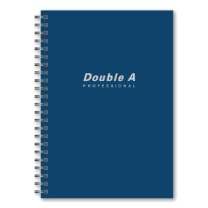 DOUBLE A สมุดบันทึกริมลวด 70 แกรม 40 แผ่น A5 สีน้ำเงิน