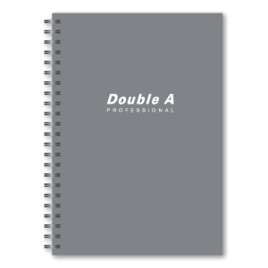 DOUBLE A WIREBOUND NOTEBOOK 70G 40 SHEETS A5 GREY