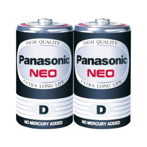 PANASONIC NEO R20NT/2SL CARBON ZINC BATTERIES D PACK OF 2