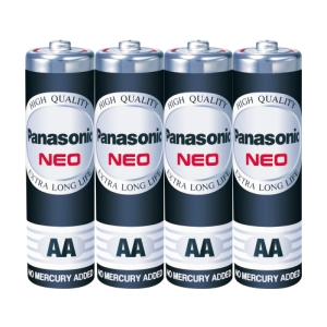 PANASONIC NEO R6NT/4SL CARBON ZINC BATTERIES AA PACK OF 4