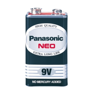 PANASONIC NEO 6F22NT/1SL CARBON ZINC BATTERY 9V