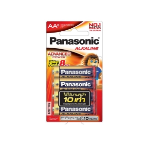 PANASONIC LR6T/8B AA ALKALINE BATTERY PACK OF 8