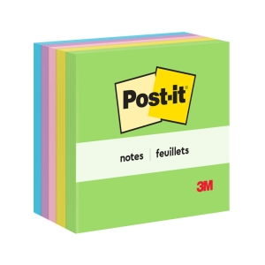 POST-IT 654-5UC NEON NOTES 3 X3  - 5 NEON COLOURS - PACK OF 5