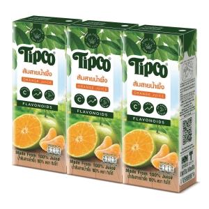 TIPCO น้ำส้มสายน้ำผึ้ง 100% แพ็ค 3 กล่อง
