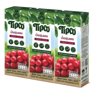 TIPCO RED GRAPE JUICE 100% PACK OF 3