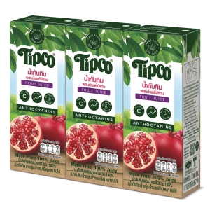 TIPCO POMEGRANATE & MIXED FRUIT JUICE 100% PACK OF 3