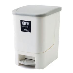 KEEP IN RW9263 STEP WASTE BIN WITH LID 10 LITRES CREAM