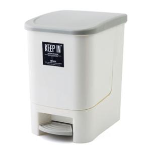 KEEP IN ถังขยะแบบมีฝาปิด รุ่น RW9263 แบบเหยียบ 10ลิตร สีครีม