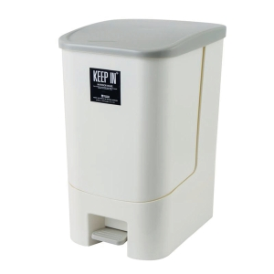 KEEP IN RW9296 STEP WASTE BIN WITH LID 28 LITRES CREAM