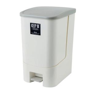 KEEP IN ถังขยะแบบมีฝาปิด รุ่น RW9296 แบบเหยียบ 28ลิตร สีครีม