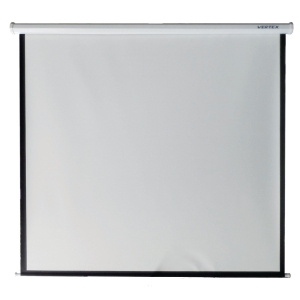 VERTEX WALL MOUNTED PROJECTION SCREEN WHITE 70X70 INCHES WHITE