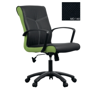 ACURA OPPA/A OFFICE CHAIR PU LEATHER BLACK-BLACK