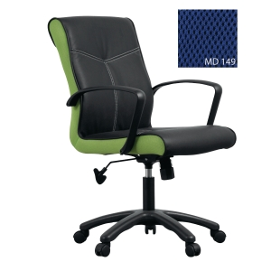 ACURA OPPA/A OFFICE CHAIR PU LEATHER BLACK-BLUE
