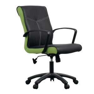 ACURA OPPA/A OFFICE CHAIR PU LEATHER BLACK-GREEN