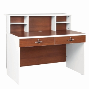 ACURA PUMA1260 COUNTER OFFICE TABLE PARTICLE BOARD 120X60X105 CM WHITE-OAK