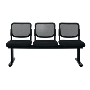 ZINGULAR ZR-1005/3 WAITING CHAIR 3 SEATS MESH FABRIC BLACK