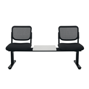 ZINGULAR ZR-1005/2TM WAITING CHAIR 2 SEATS MESH FABRIC BLACK