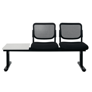 ZINGULAR ZR-1005/2TL WAITING CHAIR 2 SEATS LEFT TABLE MESH FABRIC BLACK