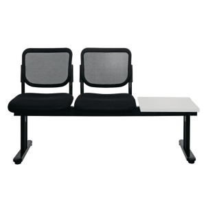 ZINGULAR ZR-1005/2TR WAITING CHAIR 2 SEATS RIGHT TABLE MESH FABRIC BLACK