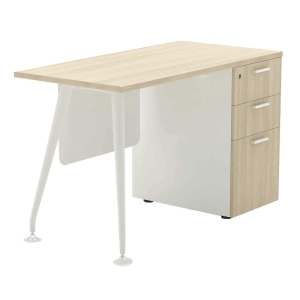 ELEMENTS ABBIE 7DR-1260 OFFICE DESK FORM 7 120X60X75 CM MAPLE/WHITE
