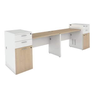 ELEMENTS BOGIE AW12-12LR OFFICE DESK SET 320X70X75 CM LATTE/WHITE