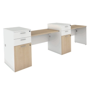ELEMENTS BOGIE AW12-12LL OFFICE DESK SET 320X70X75 CM LATTE/WHITE