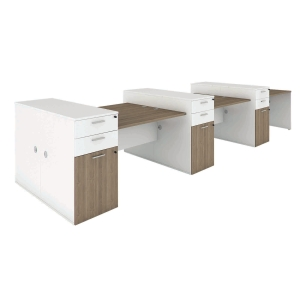 ELEMENTS BOGIE AW161-12 OFFICE DESK SET 480X140X75 CM CAPPUCCINO/WHITE