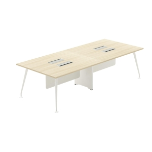 ELEMENTS ABBIE 74-2012 OFFICE DESK CLUSTER OF 4 200X120X75 CM MAPLE/WHITE