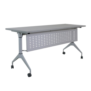 METAL PRO โต๊ะพับชนิดมีล้อ พร้อมบังตา รุ่น LS-718-120PLUS 120X60X75 ซม.