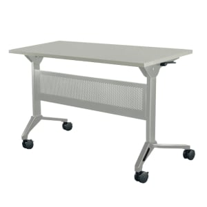 METAL PRO LS-711A-180 FOLDING TABLE WHEELS AND STEEL MODESTY PANEL 180X65X75CM