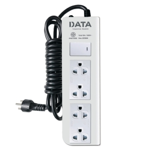 DATA DT4128M EXTENSION CABLE 4 SOCKETS 1 SWITCH 3 METERS