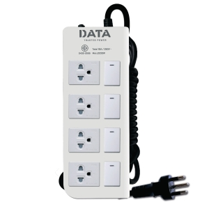 DATA DT4418M EXTENSION CABLE 4 SOCKETS 4 SWITCHES 5 METERS