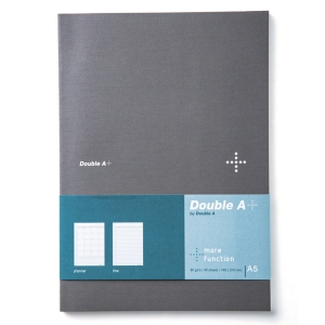 DOUBLE A DA PLUS PLANNER NOTEBOOK A5 80GRAMS 40SHEETS GREY