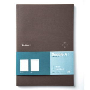 DOUBLE A DA PLUS PLANNER NOTEBOOK A5 80GRAMS 40SHEETS BROWN
