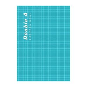 DOUBLE A สมุดบันทึกสันกาว PROFESSIONAL A5 70แกรม 40แผ่น  สีเขียว