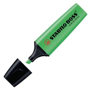 STABILO BOSS GREEN HIGHLIGHTERS - BOX OF 10