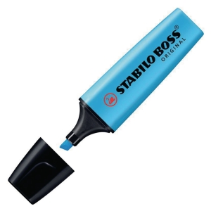 STABILO BOSS BLUE HIGHLIGHTERS - BOX OF 10