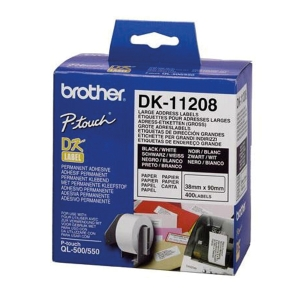 BROTHER ป้ายพิมพ์ฉลาก DK-11208 38มม. x 90มม. 400ดวง