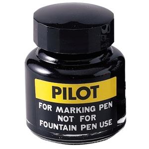 PILOT SCI-R PERMANENT MARKER REFILL INK 30ML BOTTLE BLACK
