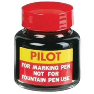 PILOT SCI-R PERMANENT MARKER REFILL INK 30ML BOTTLE RED