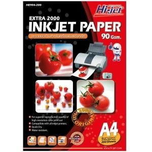 HI-JET กระดาษอิงค์เจ็ท EXTRA 2000A4 90 แกรม1 แพ็ค บรรจุ 200 แผ่น
